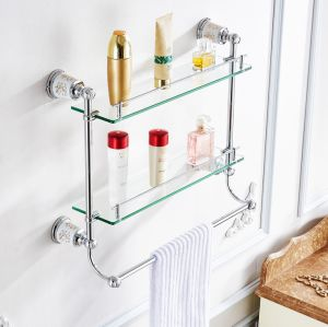 FLG Chrome Double Towel Bars Chrome Bathroom Accessories pictures & photos