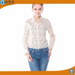Wholesale Women Fashion Print Cotton Blouse Factory Tops pictures & photos