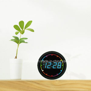 Decorative Circling LED Digital Electronic Wall Time Clock pictures & photos