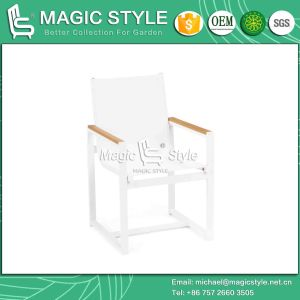 Textile Chair with Plastic Slat Outdoor Side Table with Plastic Slat pictures & photos