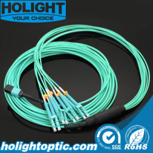 MPO to LC Om3 Trunk Fiber Optic Cable pictures & photos