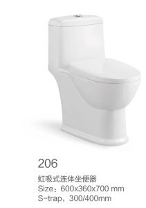 206 Siphonic One-Piece Toilet New Model pictures & photos