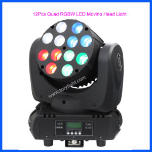 Quad DJ LED 12PCS Moving Head Party/Disco Lighting pictures & photos