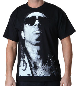 Lil Wayne Jumbo Photo Printed T-Shirt Black (A177) pictures & photos