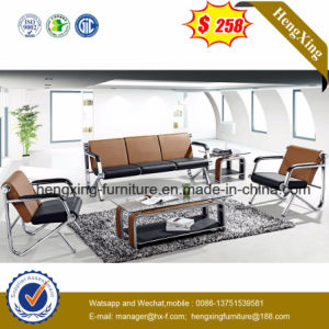 Modern Office Furniture Leather Sofa with Metal (HX-CS094) pictures & photos