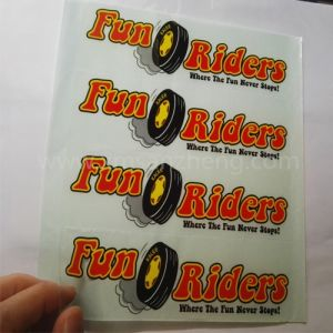 Water Resistant Transparent Self Adhesive Full Color Unique Name Stickers pictures & photos