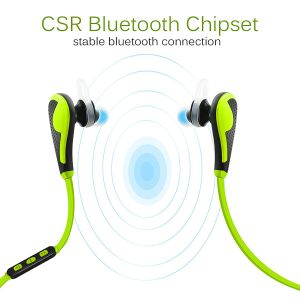 Wireless Bluetooth Sweatproof in-Ear Sports Headphones with Microphone pictures & photos