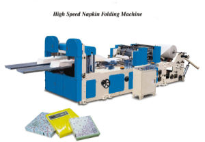 Automatic Embossing and Printing Napkin Paper Folding Machine pictures & photos