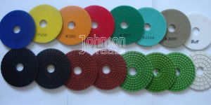 75-125mm Wet Type Spiral Diamond Polishing Pads for Polishing Granite and Marble pictures & photos