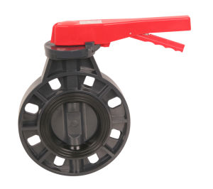 PVC Valve Butterfly Valve Handle Type PVC Pipe pictures & photos