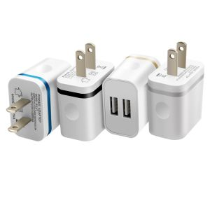 5V2.0AMP Dual USB 2-Port Easy Grip Home Travel Charger pictures & photos