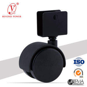 40mm Black Color Office Chair Locking Nylon Ball Casters Caster with Brake, Cabinet Caster pictures & photos