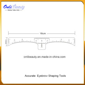 Accurate Permanent Makeup Eyebrow Shaping Tools Eyebrow Measurement Ruler Sticker pictures & photos