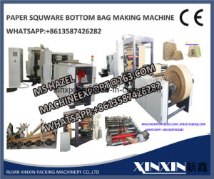 PLC Touch Screen Computer Control Paper Bag Making Machine pictures & photos