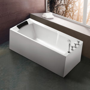 Freestanding Acrylic Simple Bathtub with Upc Ce Acs Saso pictures & photos