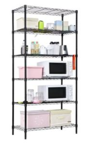 Coffee Brown Powder Coated 6 Shelves 120kg Heavy Duty Metal Wire Shelving Rack for Home Kitchen-Room Storage, No Tools Assembly & NSF Approval pictures & photos