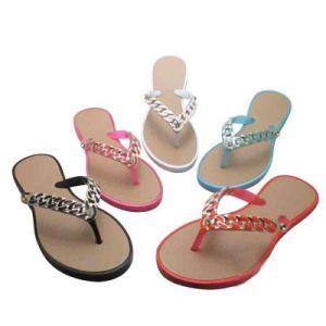 Popular Fashion Flip Flop Jelly Sandals PVC Beach Wedge Sandals pictures & photos