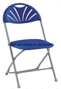 Triple Braced & Double Hinged Black Metal Folding Chair (LL-0013A) pictures & photos