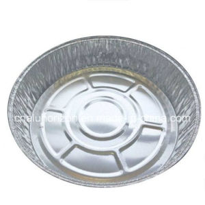 "7"" Round Foil Take-out Pan W/Clear Lid Disposable Aluminum Container pictures & photos"