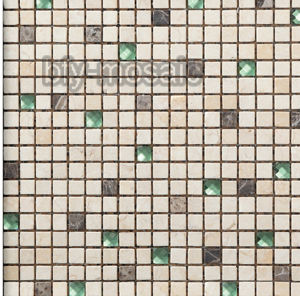 Natural Stone Mixed Glass Mosaic for House Building Material (FYSG034) pictures & photos