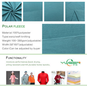 Ladies Fashion Garment Polar Fleece Fabric pictures & photos