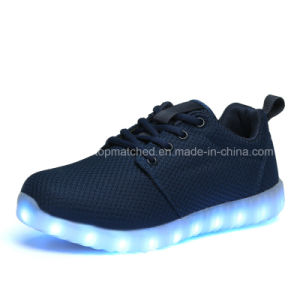 LED Light Running Shoes/Rechargeable LED Shoes/Simulation LED Shoes pictures & photos