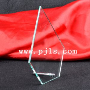 Wholesale Cheap Jade Glass Crystal Trophy Award with Metal Pin pictures & photos
