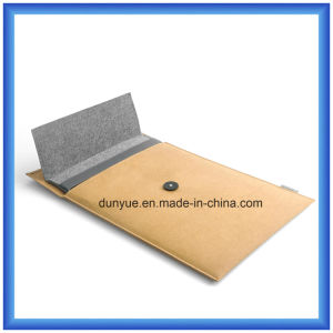 One Set Customized Wool Felt Laptop Briefcase Bag with Tear Resistance DuPont/Tyvek Paper Bag Packing (wool content is 70%)
