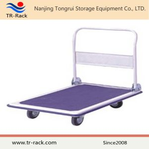 Four Wheels Heavy Duty Folding Platform Hand Truck pictures & photos