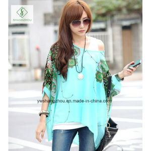 Hot Sale Bohemia Series Blouse Beach Sunscreen Fashion Chiffon Shirt pictures & photos