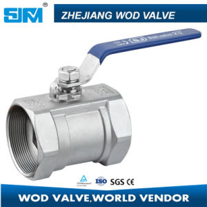 China Supplier Stainless Steel 1PC Butterfly Ball Valve pictures & photos