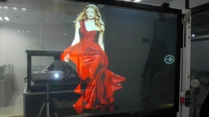 High Quality Transparent Rear Projection Film, Holographic Screen pictures & photos