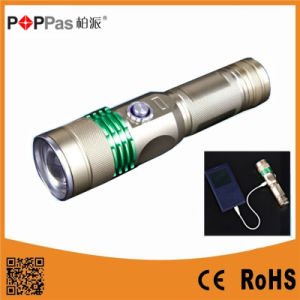 Power Bank Rechargeable LED Flashlight pictures & photos