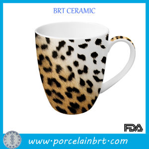 Leopard Print Ceramic Porcelain Mug pictures & photos