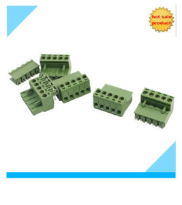 5.08mm PCB Mount Screw Pluggable Terminal Block Green pictures & photos
