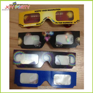 Customized Printed Paper 3D Firework Diffraction Cardboard Glasses pictures & photos