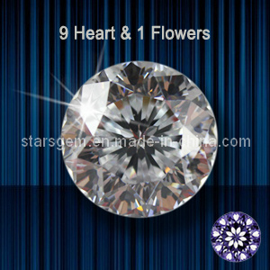 9 Hearts & 1 Flower Star Cut Cubic Zirconia pictures & photos