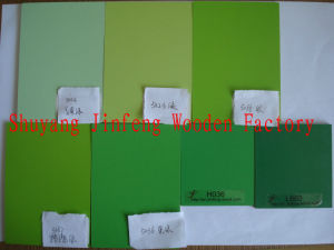 China Supply Green Color for Melamine MDF/Particle Board for Cabinet pictures & photos