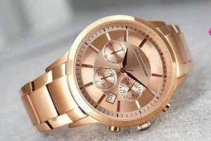 Classic Gold Chronograph Rose Gold Strip Business Nouveau Riche Luxury Fashion Three Eye Chronograph Quartz Men′s Watch pictures & photos