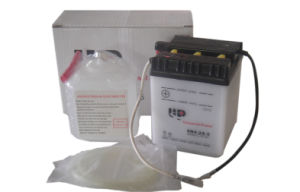 6V 6ah Dry Charged Vented Motorcycle Battery (6N6-1B)