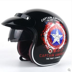 2016 New Open Face Motorcycle Helmets, Half Face Riding Helmets with Inner Visor DOT Helmets pictures & photos