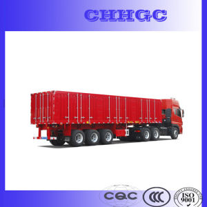 Van/Box Type Transport Trailer for Carring Coal pictures & photos