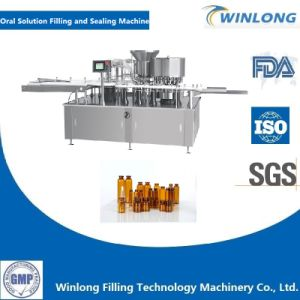 Monoblock Syrup Small Vial Bottle Filling and Cap Sealing Machine pictures & photos