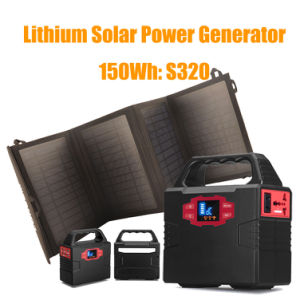 150wh Portable Solar Energy Generator Solar System with Li-Polymer Battery pictures & photos