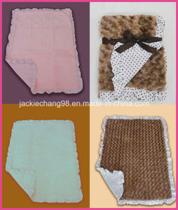 Brushed PV Fleece Baby Blanket (HR03BB001) pictures & photos
