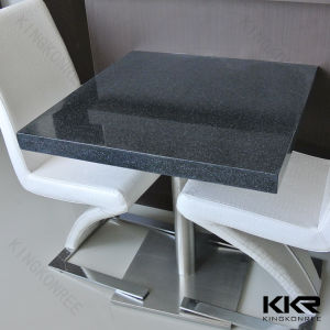 China 60cm quartz stone table top black dining table and for Quartz top dining table