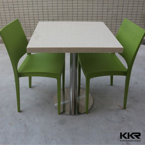 Kingkonree Modern Square Marble Stone Solid Surface Dining Table pictures & photos