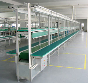 Auto Assembly Production Line with Aluminum Profile Work Table pictures & photos