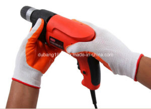 Hppe Shell Sandy Nitrile Coated Safety Work Gloves pictures & photos