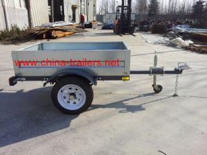 Galvanized Box Trailer for Sale Tr0406 pictures & photos